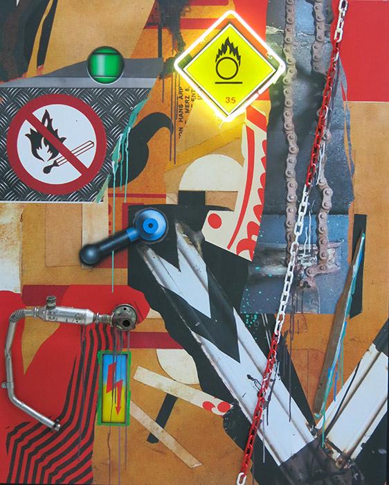 NO SMOKING / OXIDIZING AGENT VERROU BLEU