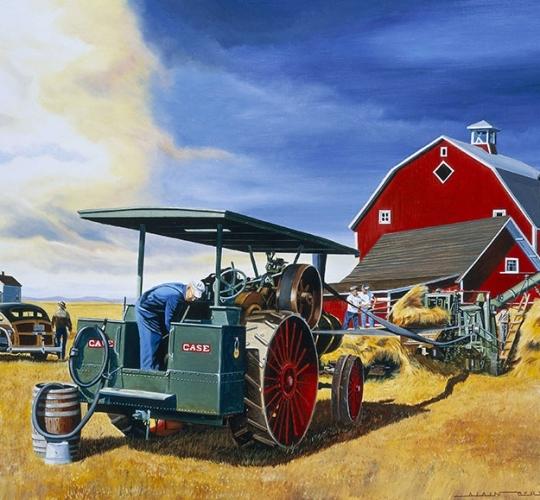 Farmer avant l'orage