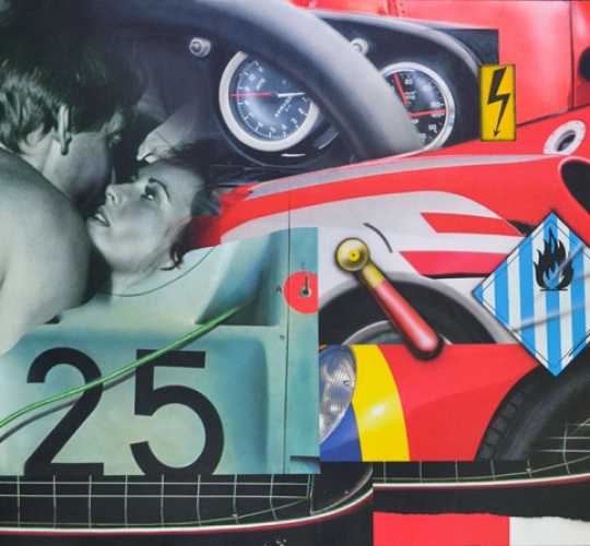 COUPLE IN A RED CAR / N°25