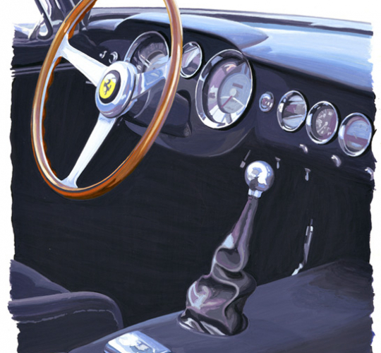 Ferrari SWB intérieur
